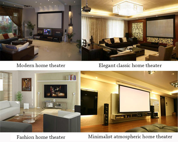 Various styles of home theater
