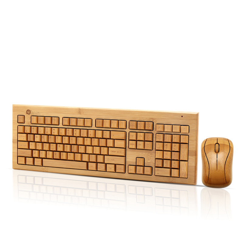 2.4G wireless bamboo keyboard KG308-N+MG93-N