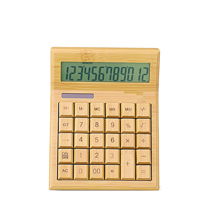 Multifuntional Bamboo Solar Calculator CS29