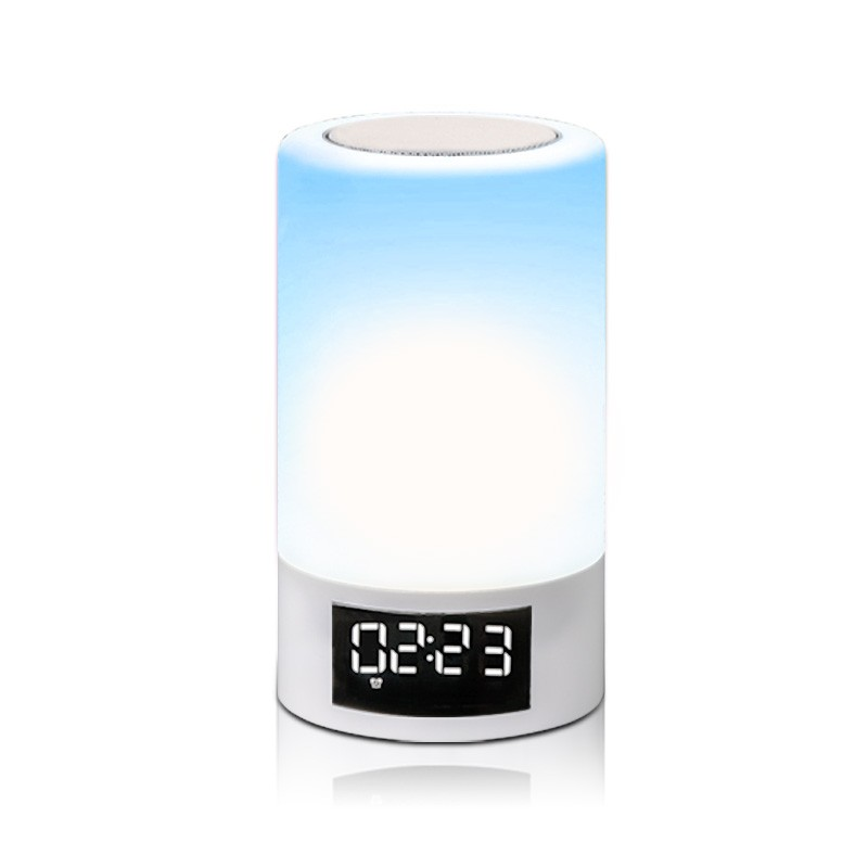 2018 New arrival portable smart touch lamp LED bluetooth speaker with TF card