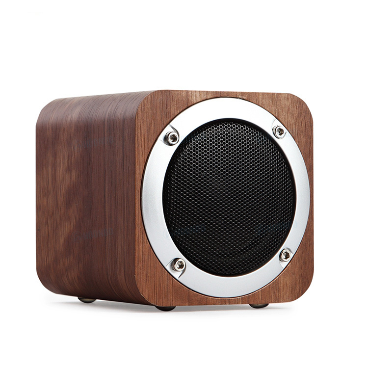 Wood Wireless 4.0 Loudspeaker, 6W Output Power with Enhanced Bass, Portable 3D Stereo Music Sound Speaker