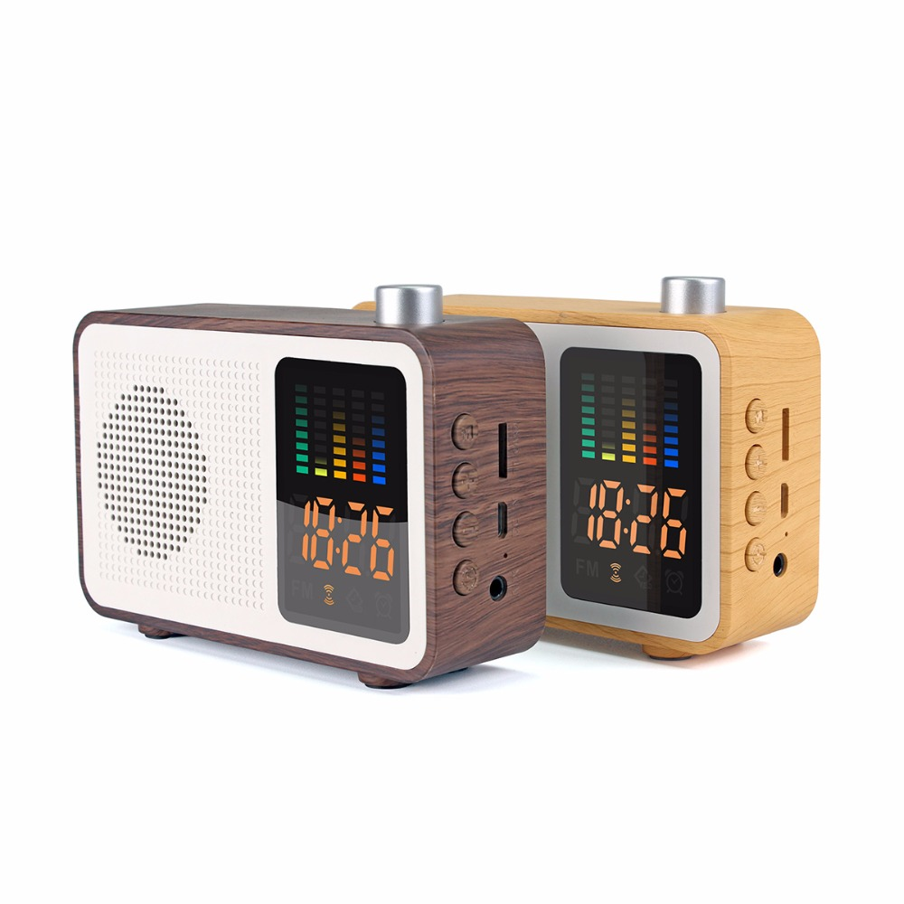 Gadgets 2018 New Products Mini Speaker Bluetooth, Radio Shape Wooden Bluetooth Speaker